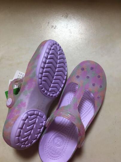 优唯美洞洞鞋 舒适轻便休闲花园果冻凉鞋沙滩凉拖鞋 金色36码 6803 晒单图