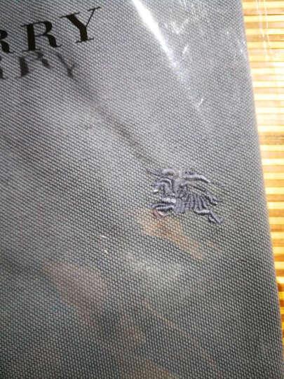 BURBERRY 巴宝莉男装 男士格纹开襟棉质Polo衫 深海军蓝 40106941 M 晒单图