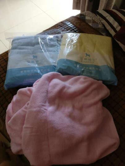 艾娜骑士 婴儿浴巾竹纤维新生儿大浴巾宝宝竹纤维澡巾 蓝色100*100 晒单图