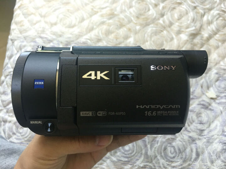 索尼(SONY)FDR-AXP55 4K高清数码摄像机 内置64G内存 5轴防抖 20倍光学变焦 蔡司镜头 内置投影 WIFI/NFC 晒单图