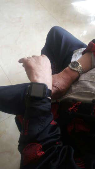 欧创gps定位器 老人定位手表 儿童防走丢走失追踪跟踪器语音通话防水超长待机手环测心率i5 黑色款 晒单图