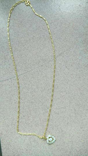 TSL谢瑞麟 足金项链 女款吊坠百搭配链 黄金项链 43+3CM元宝链  YG896 6.7克 工费210元 晒单图