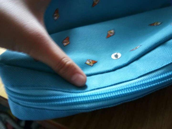 创意女孩系列笔袋 学生男女可爱大容量多功能简约 文具铅笔收纳袋 粉红色 晒单图