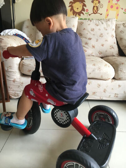 星辉婴童 rastar宝马mini儿童三轮车宝宝路虎脚踏车童车三轮车儿童车自行车2-5岁(武磊代言) 宝马mini-蓝色 晒单图