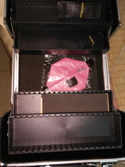 博瑞(BORY)化妆箱 手提化妆箱  大容量跟妆美甲工具箱  纹绣美发美容半永久工具箱 黑色 晒单图