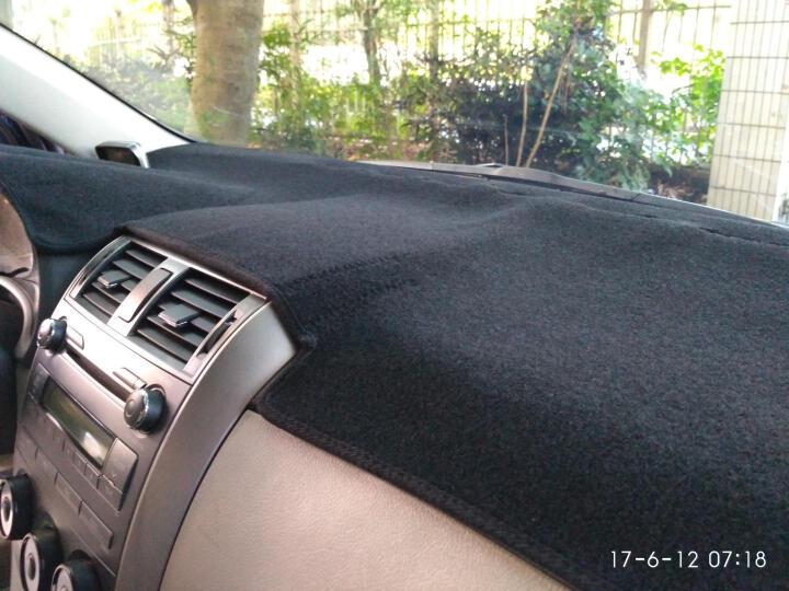美克杰 丰田RAV4威驰汉兰达雷凌卡罗拉普拉多凯美瑞避光垫 中控仪表台防晒遮光垫 新普拉多/霸道10-16款 带不带音响 防滑款-黑边 晒单图