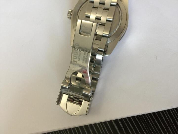 瑞士帝舵TUDOR手表骏珏星期日历系列自动机械钢带男表M56000- 0008-10DI 黑盘镶钻 晒单图