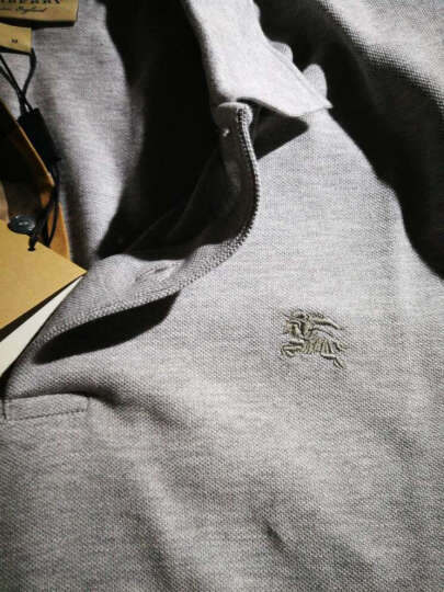 BURBERRY 巴宝莉男装 男士格纹开襟棉质Polo衫 深海军蓝 40106941 S 晒单图