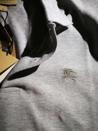 BURBERRY 巴宝莉男装 男士格纹开襟棉质Polo衫 黑色 40106951 S 晒单图
