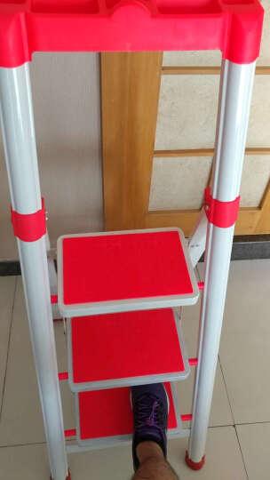 密林 家用梯 梯子 梯 三步梯 带置物架多功能梯防滑安全折叠梯 ML-TD03 晒单图