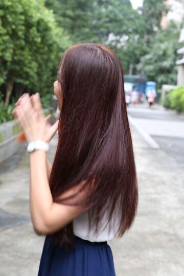 韩金靓 染发剂泡泡植物栗棕色亚麻色无刺激天然遮盖白发纯不伤发男女士染头发色膏 紫色偏黑(0.66盖白发) 晒单图