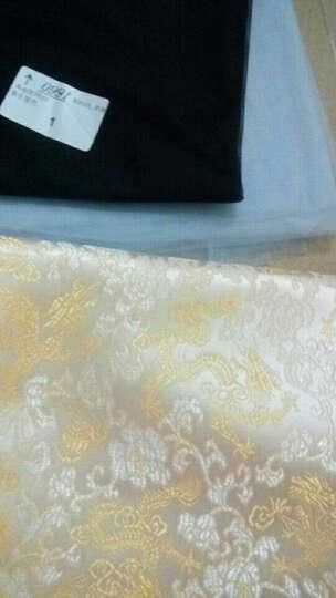织锦缎布料丝绸布唐装旗袍凤尾龙纹花纹仿古装汉服布料面料 祥云龙纹-白底黄龙(半米价) 晒单图