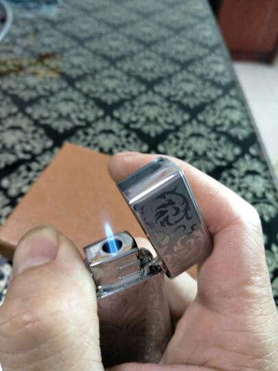 焦点 防风打火机充气 个性定制金属打火机  免费刻字礼物礼品 银蝶-不可刻字 晒单图