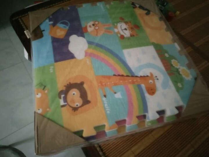 蔓葆(mambobaby) 儿童宝宝拼图游戏爬行垫毯爬爬垫乐扣地垫泡沫拼接环保加厚 我爱我家6片装边条款 晒单图