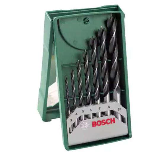 博世木工钻头三尖钻 自定心钻头电钻钻头木材打孔钻头7支套装 晒单图