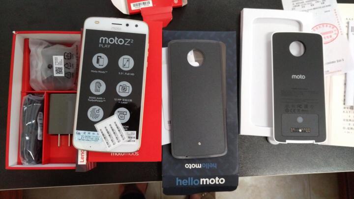 摩托罗拉 Moto Z2 Play 4G+64G 模块化手机 金色 移动联通电信4G手机 双卡双待 晒单图