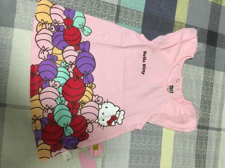 Hello Kitty童装女童木耳短袖连衣裙KA721RA30P1473柔粉73 晒单图