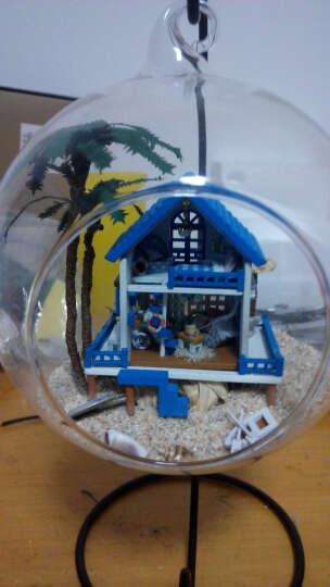 智趣屋diy小屋浪漫爱琴海玻璃屋球声控发光送女友生日礼物女创意礼品手工房子模型拼装建筑 风之幻想 19x16x16cm 晒单图