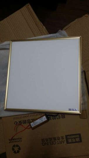 纳韦斯集成吊顶LED灯铝扣板面板灯厨卫天花灯嵌入式平板灯 超窄边12w(金)适用8㎡内 晒单图