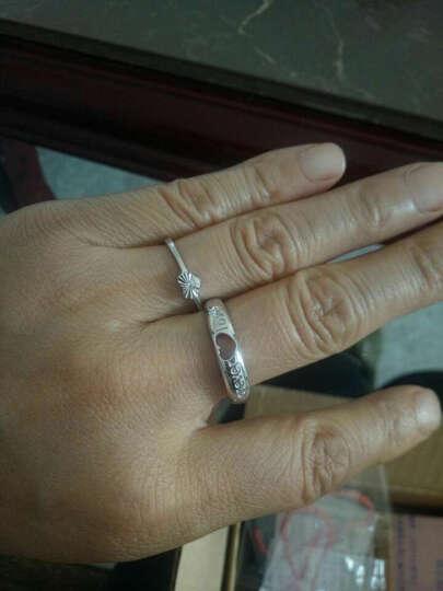 龙骑士情侣戒指男女925银开口对戒指环对戒子  韩版时尚首饰生日礼物 Forever love 情侣款一对价 晒单图