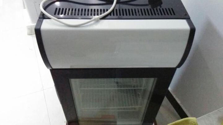 捷盛(JS) 立式冰淇淋冷冻展示柜50L小型冷柜玻璃单门冰吧 迷你哈根达斯榴莲冰箱 黑色 纯黑色 晒单图