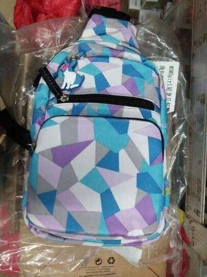 MOMOgirl尼龙几何糖果水滴胸包单肩斜挎女韩版小包包M4502冰海蓝糖果 晒单图