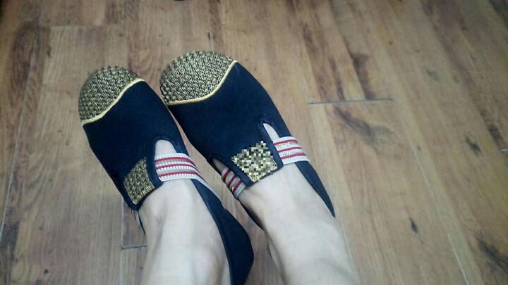 卡兹洛 老北京布鞋女款绣花鞋圆头鞋内鞋民族风舞蹈鞋TJMX4234 红色 39 晒单图