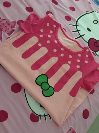 邦宝熊 夏季新款 儿童睡衣女夏 女童睡裙夏季 女大童内衣短袖 家居服空调服 粉色大脸猫 160适合身高140-150CM 晒单图