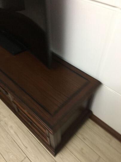 嘉嘉尚彩 电视柜 美式乡村实木电视柜茶几组合套装酒柜书柜储物柜复古做旧简约欧式家具仿古客厅 电视柜(中柜1.8米长) 深色 晒单图