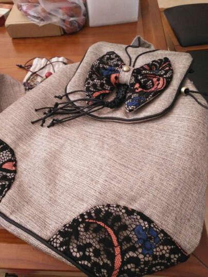 喀斯特双肩包女韩版时尚休闲女包抽绳帆布背包中学生书包女休闲旅行女士双肩包 晒单图