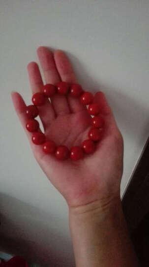 玉泽园 玛瑙手链凉山南红手串天然红玛瑙手链柿子红纯火焰红樱桃红男女原石送证书 14MM款 晒单图