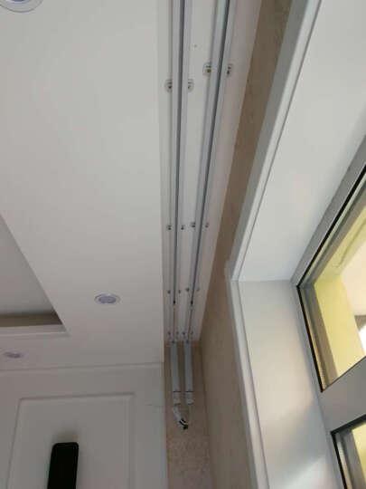 欧轩电动升降开合窗帘杆窗帘轨道单轨双轨顶装电动窗帘电机智能窗帘手机WIFI控制可配小米电机 5-6米整套 晒单图