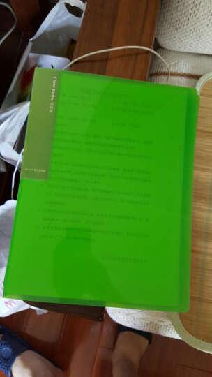 得力(deli)5014 彩色半透镜面超透内页A4资料册/文件册/文件袋-30页 绿色 晒单图