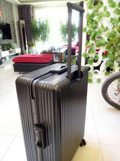 迈克米兰铝框拉杆箱万向轮女旅行箱男行李箱登机箱20/24/28英寸 银色 24英寸 黄金尺寸 6天出行 晒单图