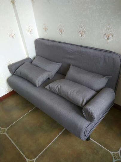 可折叠多功能沙发 沙发床 小户型简易布艺沙发床午休床 彩色双人床1.5米三人1.8米 烟灰色升级款 120cm 晒单图
