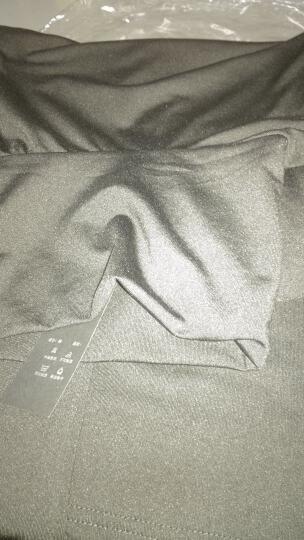 南贵人秋冬长袖高领T恤女 韩版休闲牛奶丝纯色高领V领打底衫女 V领玫红 均码 晒单图