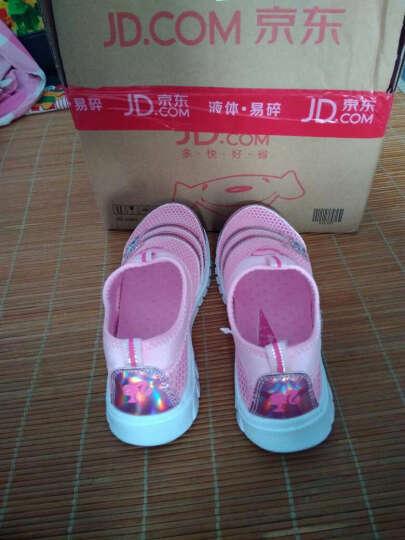 芭比 BARBIE 女童运动鞋 女童单网鞋儿童运动鞋 透气 1641桃红30 晒单图
