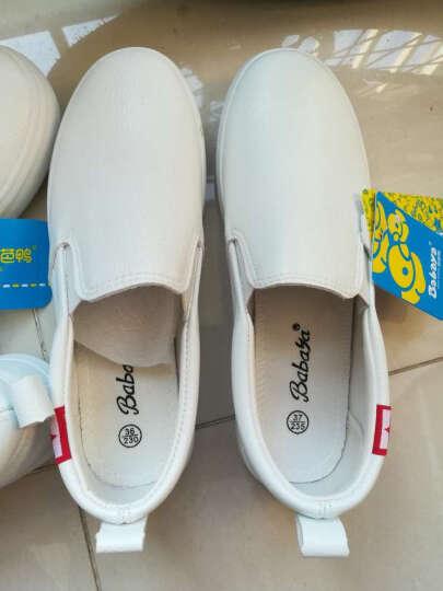 环球童鞋 儿童帆布鞋女童皮鞋男童儿童板鞋运动鞋男童女童套脚懒人 黑色 29 晒单图