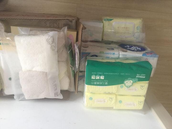 全棉时代 新生儿纱布浴巾水洗浴巾 6层 95*95cm 白色 1条/盒 晒单图