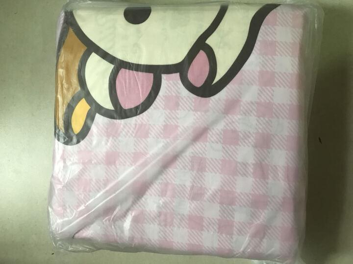 LOVO家纺 罗莱生活出品床上四件套磨毛纯棉床单被套卡通套件 轻松小熊系列 慵懒 斜纹款 1.5米床(被套200x230cm) 晒单图