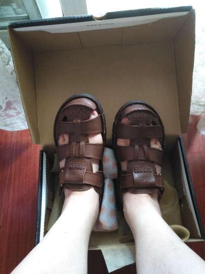英国[BCS]邦楚仕2019新款凉鞋 男士夏季真皮包头户外沙滩鞋牛皮凉鞋男 13669-1棕色 42 晒单图