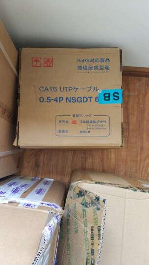 日线(NISSEN)网线 六类非屏蔽双绞线 CAT6 无氧铜网络线缆多色 100米 深蓝色 晒单图