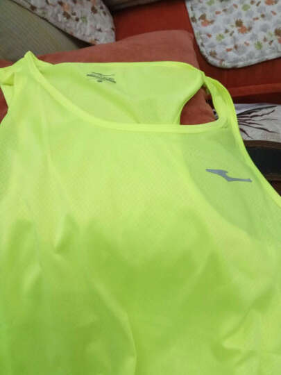 鸿星尔克运动背心男 夏速干无袖透气短袖健身跑步T恤篮球服 荧光黄 2XL 晒单图
