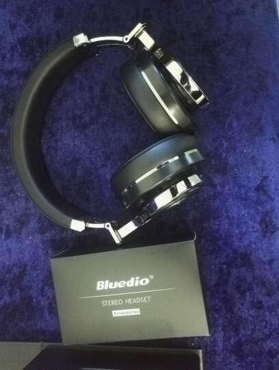 蓝弦 T3代 动感涡轮蓝牙耳机头戴式 无线重低音手机电脑游戏耳麦 金色 晒单图