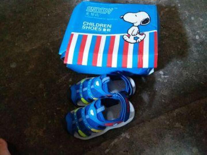 史努比儿童凉鞋夏季包头男女童 深蓝-5827 31码/內长约19.9cm 晒单图