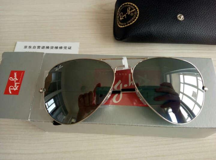RayBan王嘉尔同款雷朋经典飞行员系列太阳镜男女款0RB3025可定制 W3234金色镜框绿色镜片 尺寸55 晒单图