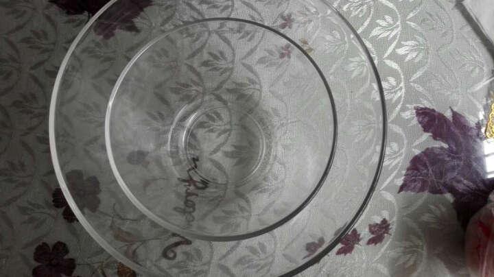 乐美雅(Luminarc) 玻璃碗 酷思莫斯钢化玻璃透明沙拉碗 耐热大中小彩盒三件套装 晒单图