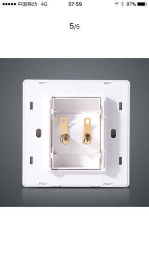 正泰(CHNT) 墙壁开关插座面板86型7L白色二联音频音响面板 晒单图