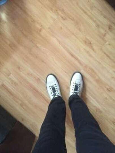 L'ALPINA休闲鞋男鞋春季真皮板鞋男士韩版小白鞋男运动休闲鞋子 黑色 41 晒单图