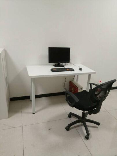 奥特美克简易电脑台式桌子家用简约时尚省空间经济型笔记本电脑桌简约现代 北美深胡桃 1100*600 晒单图